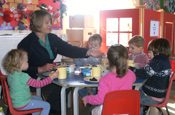 Snack Times at the Granary Nursery School